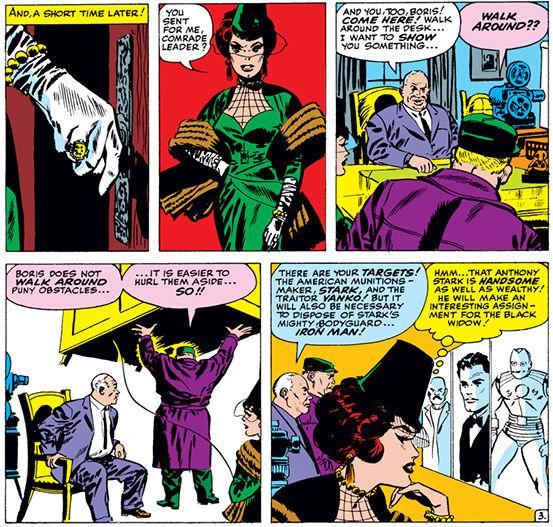 A segunda Viúva Negra entra em ação.