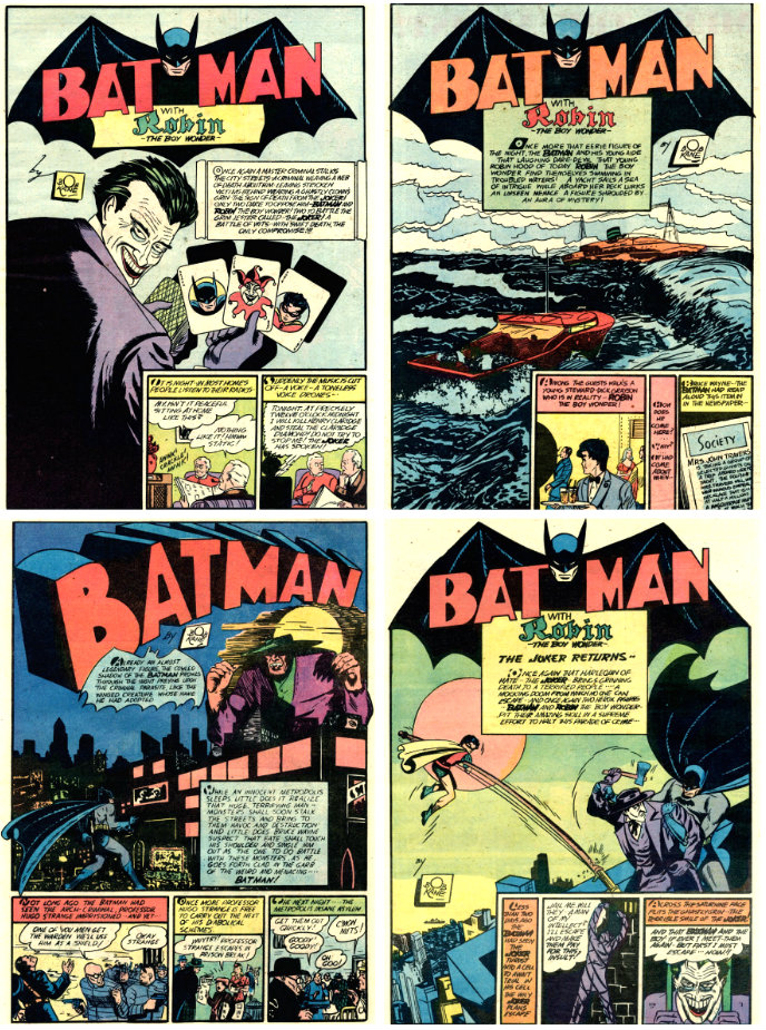 aventuras do batman plano critico 1940 batman 1
