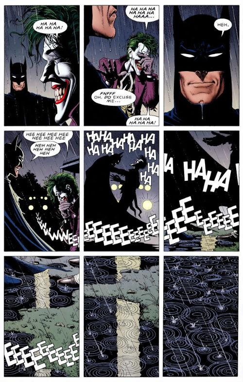 Última página de A Piada Mortal.