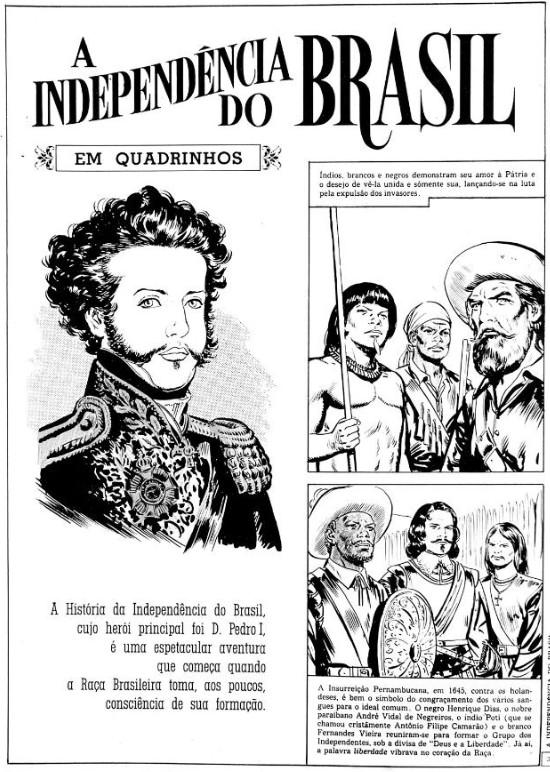 plano critico a independência do Brasil em quadrinhos D. Pedro, heróis