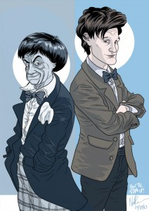 2º e 11º Doutores.  BOW TIES ARE COOL. Arte: Neil Cameron.