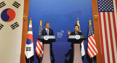 Obama tem renovado suas alianças com a Coreia do Sul.