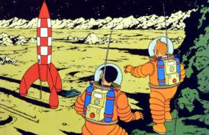 plano critico tintim rumo à lua e explorando a lua