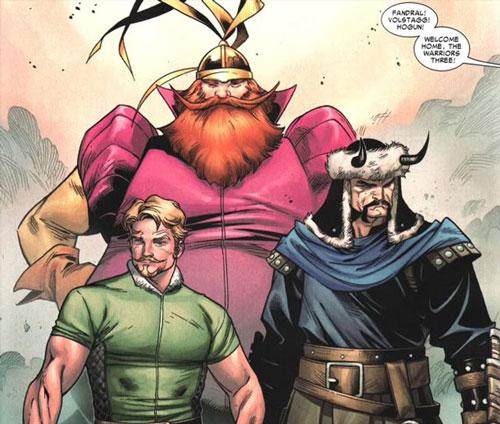 thor 2 warriors_three comics