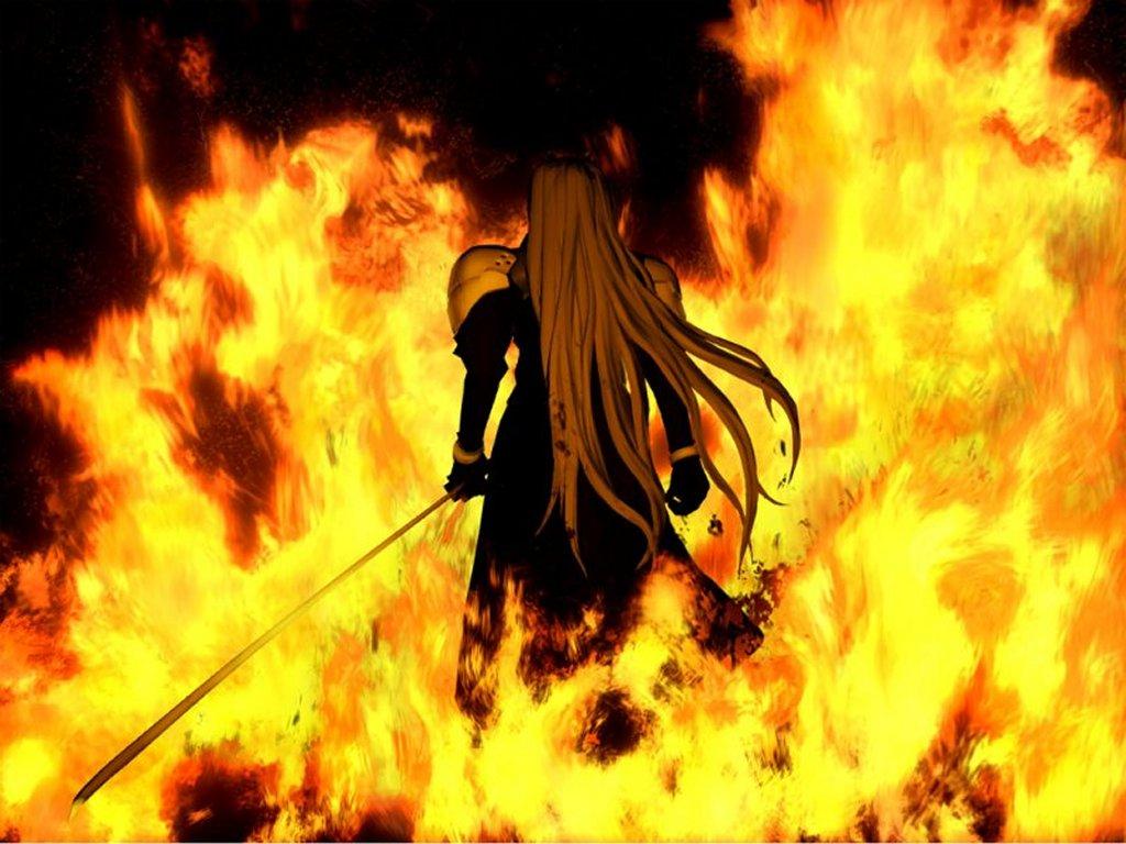 Sephiroth em sua mais famosa cena