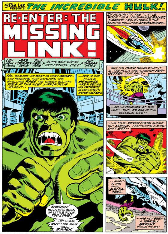 plano critico retorna o elo perdido hulk vol.1 len wein quadrinhos