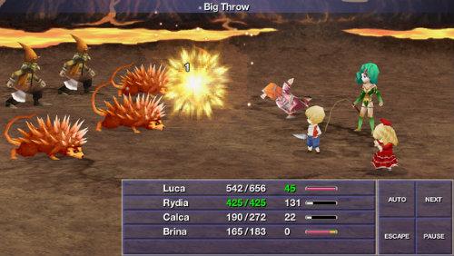 A batalha na versão para iOS