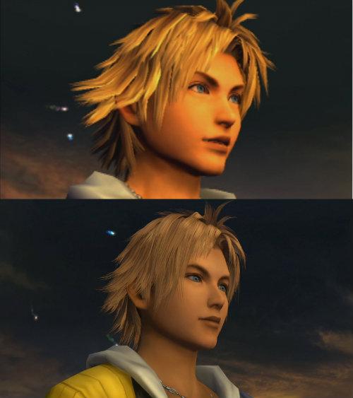 Tidus - antes e depois