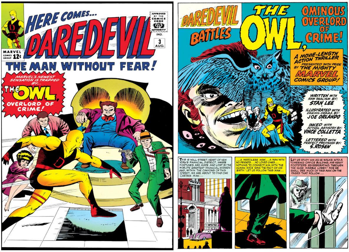 The Owl, Ominous Overlord of Crime plano critico demolidor