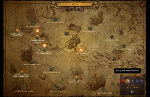 O mapa do modo aventura
