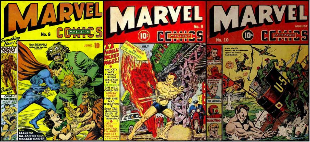 mosaico marvel mystery comics