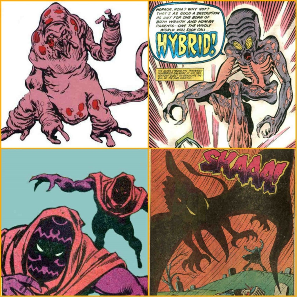 (1) Um Espectro; (2) O Híbrido; (3) Cães do Inferno e (4) Asa da Morte.