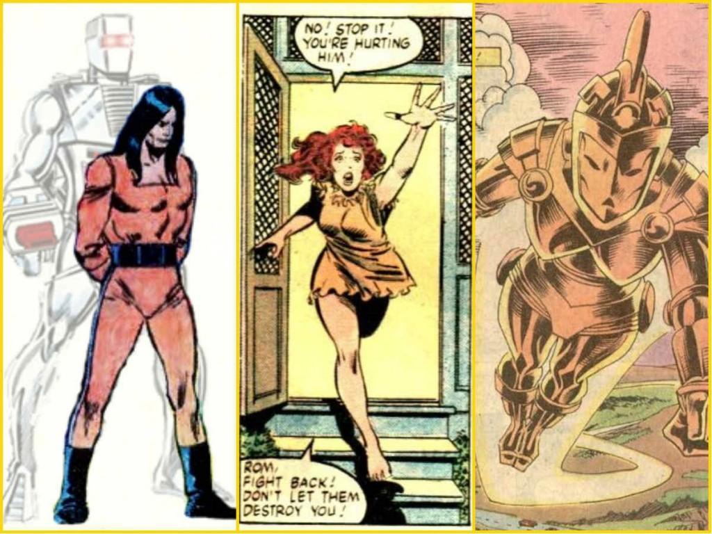 (1) Rom nas versões ciborgue e humana; (2) Brandy Clark e (3) Brandy Clark como Starshine.