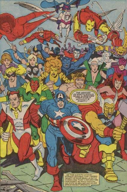 O momento decisivo da Guerra dos Espectros, com literalmente todo o Universo Marvel chegando para ajudar Rom e Starshine.