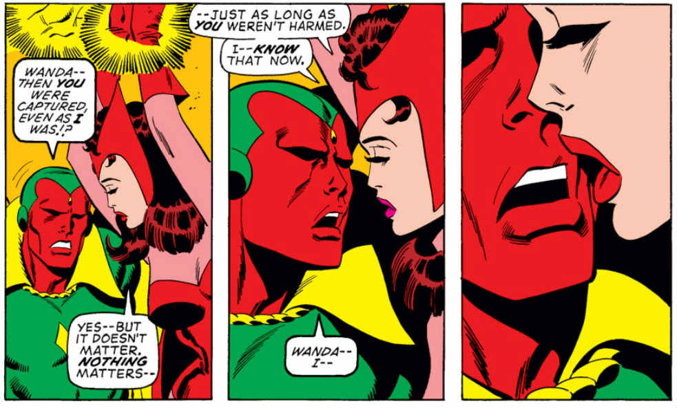aou easter vision and scarlet witch comics