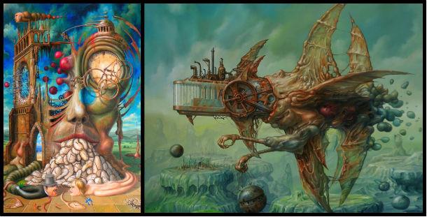 terror, pintura surrealista