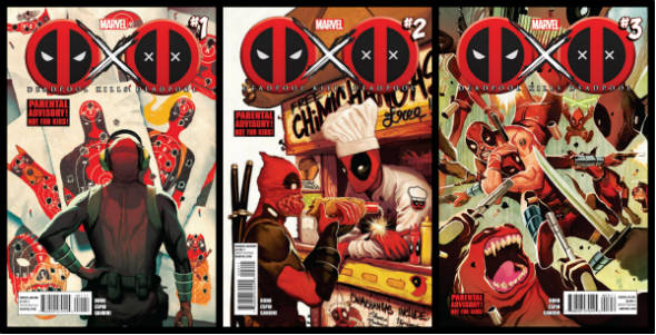 Capas das edicoes 1 a 3 deadpool kills mata deadpool