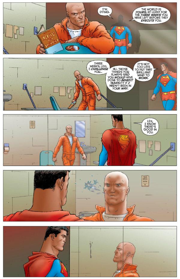 luthor superman prisão uniforme laranja