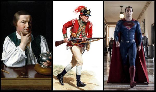 """Jack Black, soldado britânico do século XVIII e o """"capa vermelha""""."""