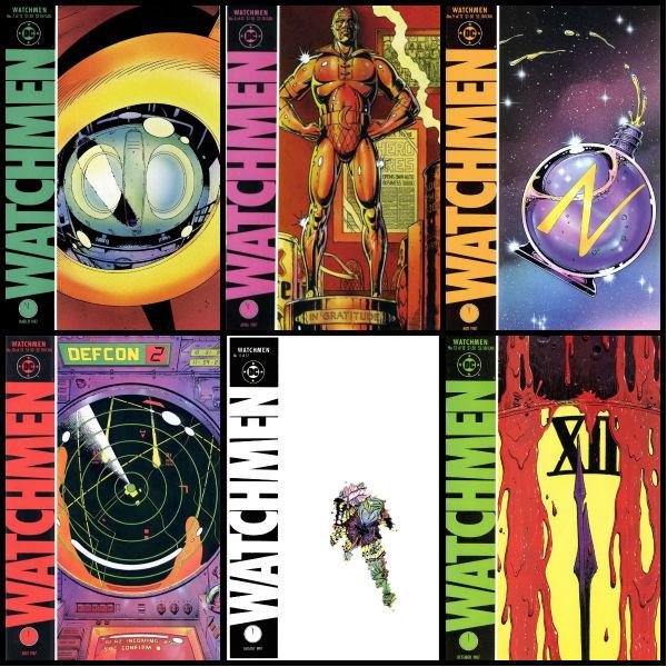 Capas originais das edições 7 a 12.