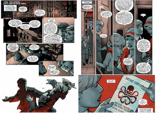 Basicamente a exploração de elementos da infância de Steve Rogers foram mantidos. O que se acrescentou aqui foi a presença da Hydra...