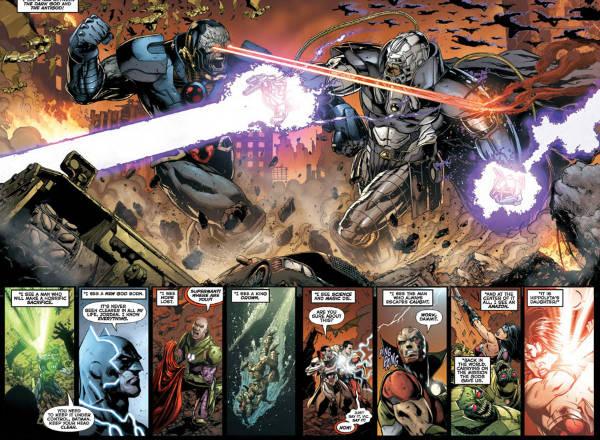 Darkseid e Anti-Motor lutando. Um deles sairá morto...