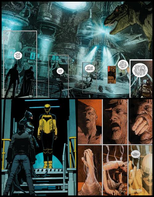 """Uma Bat Caverna cinematográfica e meio steampunk; um Julian Day """"desabrochando"""" na Primavera; e Duke recebendo a """"proposta de algo"""". Reparem no uniforme."""