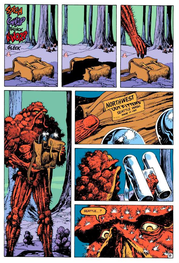Muito longe de casa, no rastro de Adam Strange, o OUTRO (?) Monstro do Pântano.