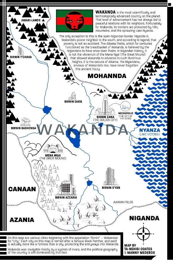 plano critico geografia de Wakanda pantera negra uma nação sob nossos pés
