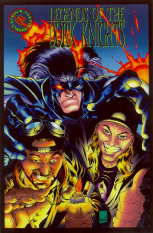 Legends of the Dork Knights (arte: Joe Quesada e Jimmy Palmiotti). Óbvia paródia de Legends of the Dark Knight com os personagens de Kevin Smith e Jason Mewes.