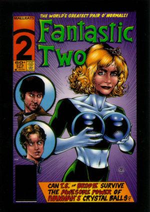The Fantastic Two (arte: Cully Hamner e Karl Story). Personagem de Priscilla Barnes em uma paródia de Quarteto Fantástico.