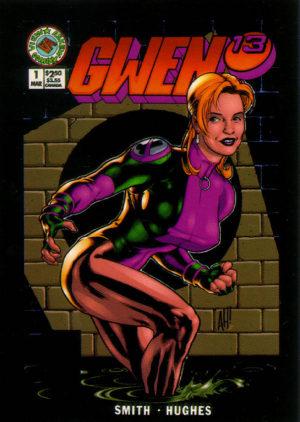Gwen (arte: Adam Hughes). Joey Lauren Adams em uma paródia de Joe 13.
