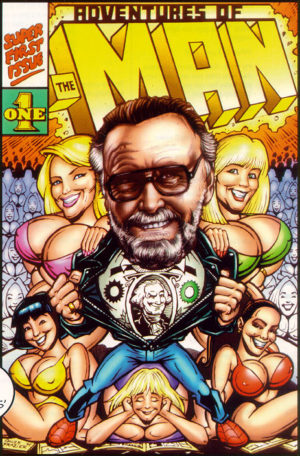 Adventures of The Man (arte: Chuck Frazier). Paródia de X-Men para Stan Lee.