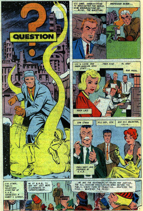 steve ditko o questao plano critico the question