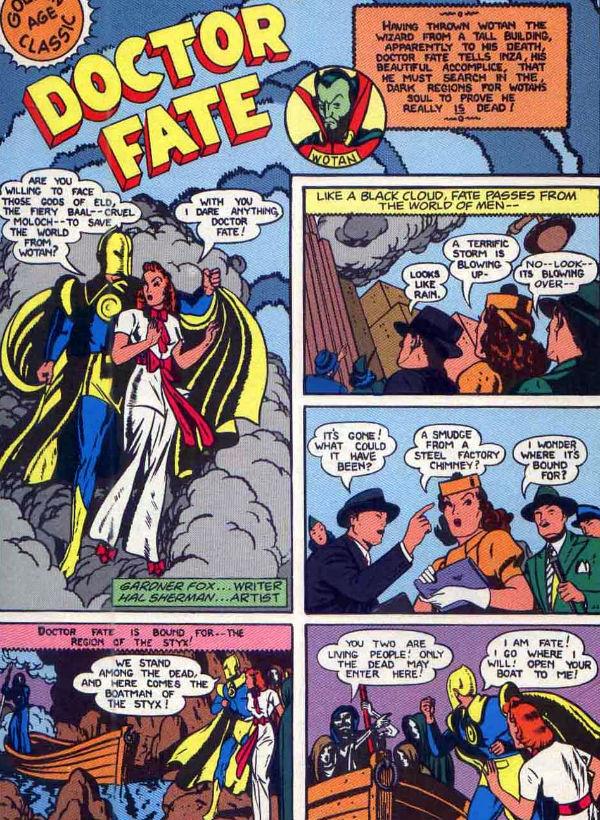 The Immortal Dr fate plano critico senhor destino more fun comics 57