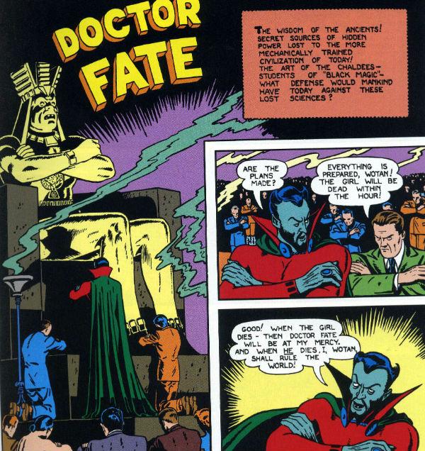 plano critico senhor destino primeira capa doctor fate dr.
