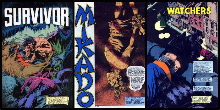 As primeiras páginas das edições #7 a 9.