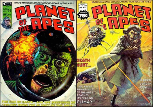 A primeira e a última edição de Planet of the Apes com a adaptação do 3º filme. O último número foi integralmente dedicado ao final da história.
