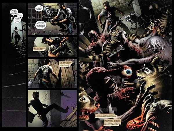 """Roland, """"Trapalhões"""" e Vagos Mutantes nas ruínas de Gilead."""