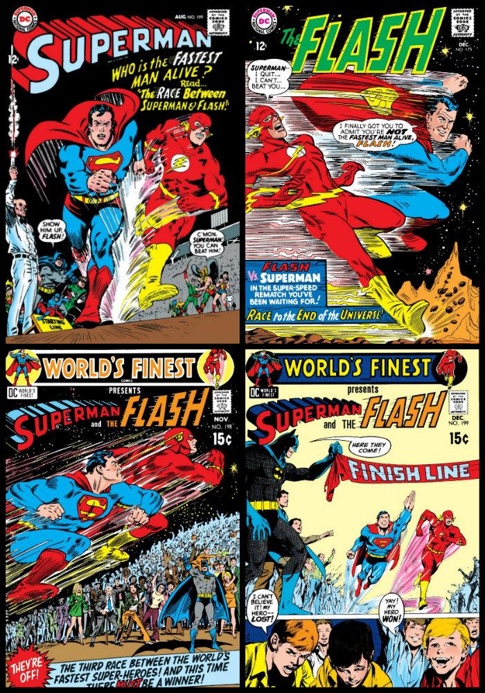 plano critico corrida entre superman e flash
