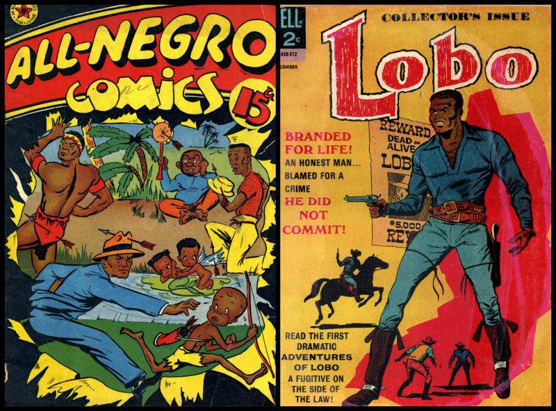 plano critico negros nos quadrinhos lobo e all negro comics