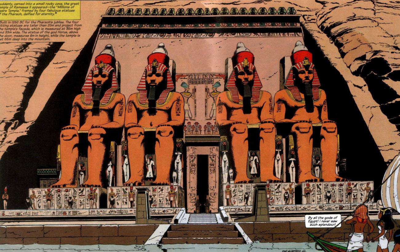 Papyrus - The Rameses Revenge esfinges plano critico
