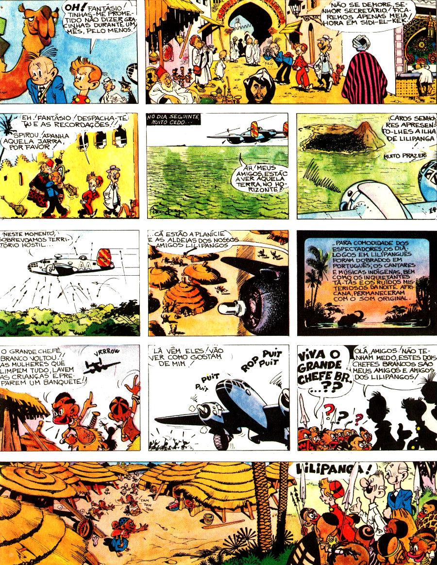 Spirou e Fantasio - PT0001 - Aventuras de Spirou e Fantasio #4 - página 59 na terra dos pigmeus