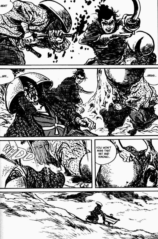 lone-wolf-and-cub-plano critico itto ogami lutando logo solitário plano crítico