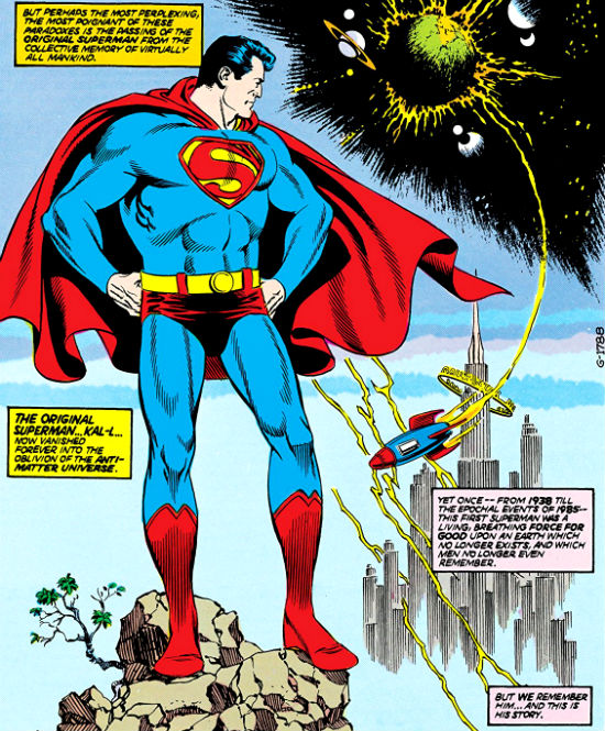 plano critico superman da era de ouro olhando o foguete