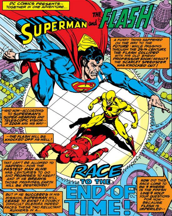 plano critico superman flash zoom futuro corrida plano critico
