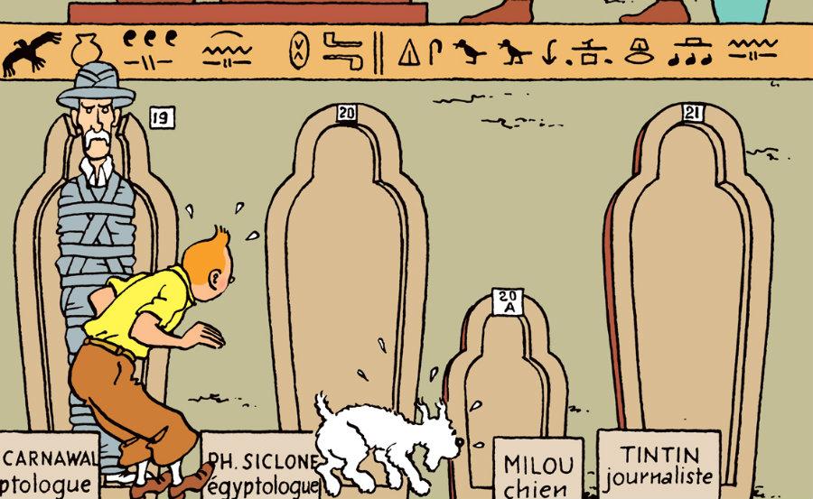 tintin-tumbas plano critico charutos do faraó