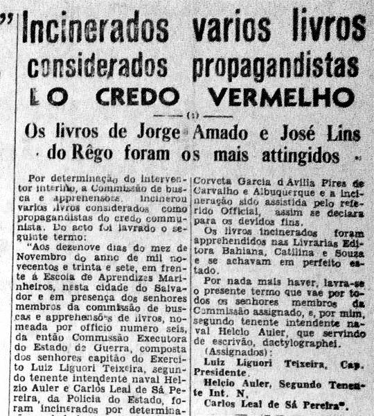 recorte_jornal0 plano critico queima de livros no brasil plano critico jorge amado bahia plano critico