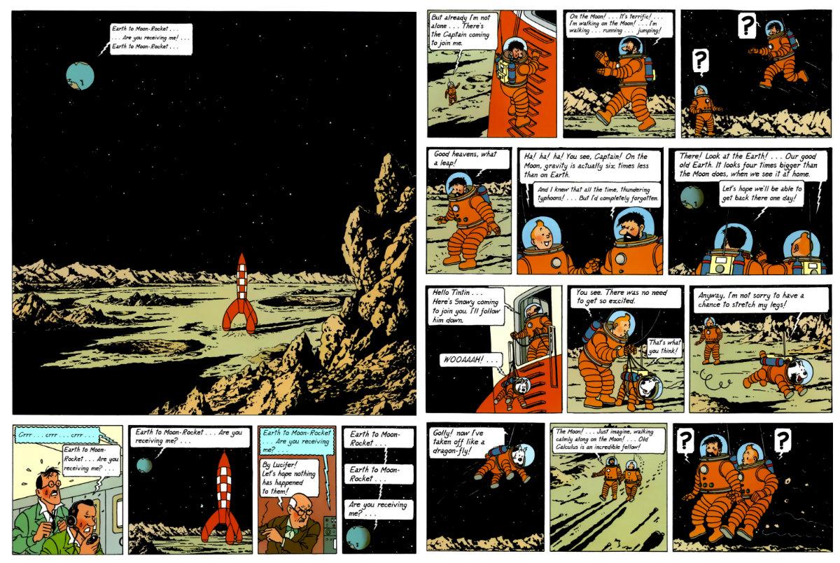herge e tintom na lua plano critico