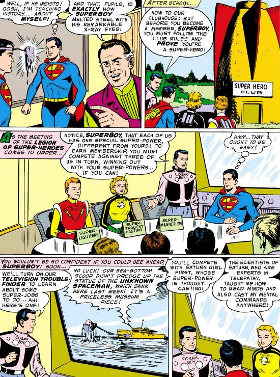 plano critico legião dos super heróis visita de clark plano critico